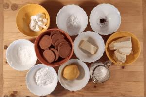Vegán sajttortához alapanyagok kimérve
