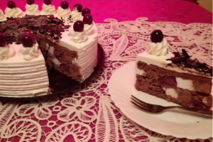 Gluténmentes Fekete-erdő torta